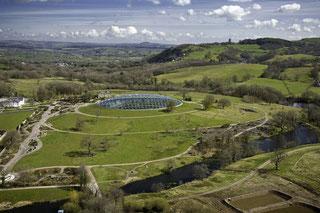 Luftbild der National Botanic Garden of Wales