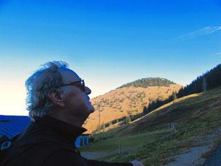 Ottmar schaute zur Kampenwand hinauf