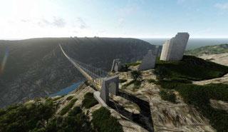 Bild - Hängebrücke über den Fluss Krka
