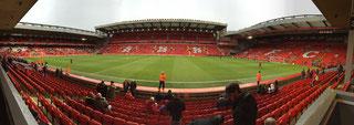 Anfield - het mythische stadion van Liverpool