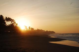Tangalle aan de Indische Oceaan. Sunrise!
