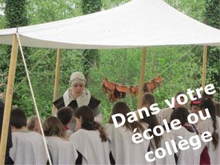 château Raucourt animation médiévale pédagogique dans les écoles collèges Somme Picardie Nord Pas de Calais Ile de France