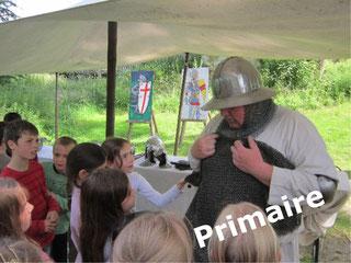 château Eaucourt visite journée pédagogique médiévale pour les écoles primaires Somme Picardie
