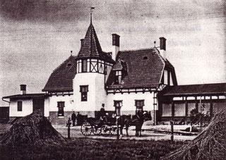 Bahnhof Straupitz 1899.