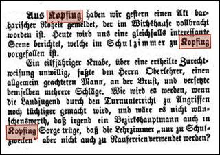 """Gasthaus """"Kirchenwirt"""" mit der 1896 neu erbauten Kaserne (Post, Gendarmerie, Arzt, Kasse)"""