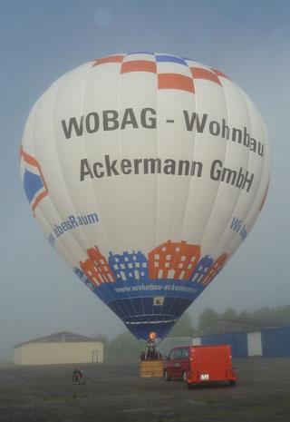 """Heißluftballon D-OACK """"WobagBallon"""" Schroeder fire balloons"""