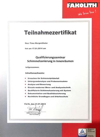 Wir packen den Schimmel an der Wurzel Malerbetrieb Mergenthaler aus Illingen im Saarland.