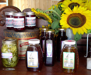 Chris's delicious jams made here on the farm.