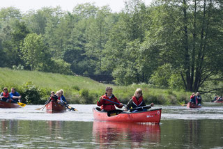 Kanus auf der Hunte bei Wardenburg