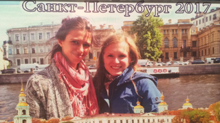 Ein Foto von Marina unsere Stadtführerin in Nowgorod.