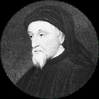 Porträt von Chaucer (ca. 1380), gefunden auf Wikipedia, PD-Old.