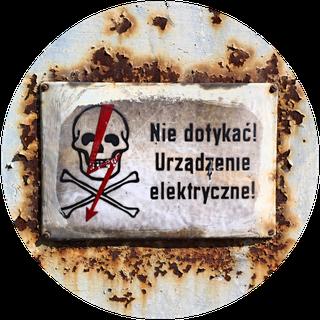 Warnschild im polnischen Stettin