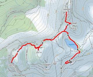 Route von der Loseralm auf den Loser, Hochanger und Greimuth