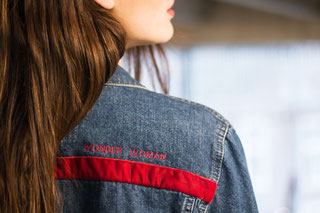 Wonder Woman Denim Jacket from NHNCD