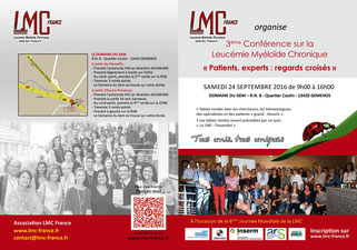 2016 conference lmc france journee mondiale leucemie myeloide chronique world cml day 9/22 22/9 france IPC institut paoli calmettes marseille patient expert regards croisés