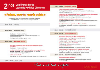 conference lmc france journee mondiale leucemie myeloide chronique world cml day 9/22 22/9 france IPC institut paoli calmettes marseille patient expert regards croisés