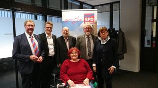 Achim Tüttenberg, MdL; Dirk Schlömer, MdL; Klaus Mehren; Gisela Ludwig Breuhaus; Dietmar Tendler; Elisabeth Veldhues