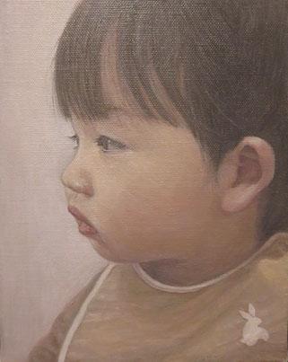 「子供」油彩 F0