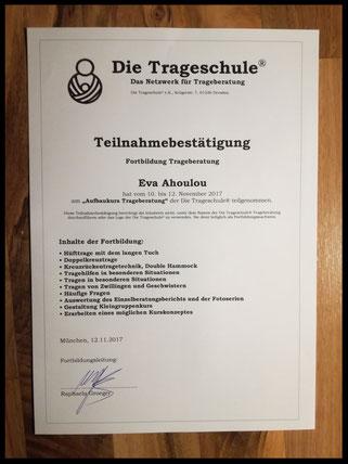 Trageberatung_München_Haltgeben_Aufbaukurs_Teilnahmebestätigung