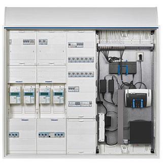 Technikzentrale mit Stromzähler