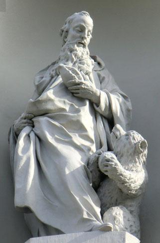 Statue von Gallus im Kloster St. Gallen