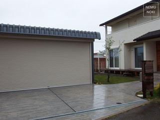 施工例、コンクリート平板