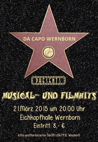 Plakat für das Konzert von Da Capo  in der Eichkopfhalle 2011