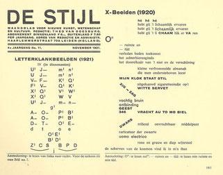 雑誌『デ・ステイル』1921年11月号
