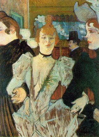 トゥールズ・ロートレック「ムーラン・ルージュに到着したラ・グリュ」(1892年)