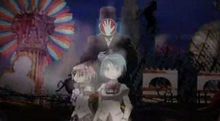 「魔法少女まどか☆マギカ」第一話の魔女との戦闘シーン。