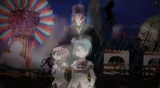 『魔法少女まどか☆マギカ』第一話の魔女との戦闘シーン。