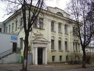 シュープレマティスム活動中心となった「人民美術学校」。現在はヴィーツェプスク近代美術館に名前を変えている。