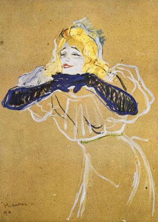 ロートレック作イヴェット・ギルベールのポスター、1894年。