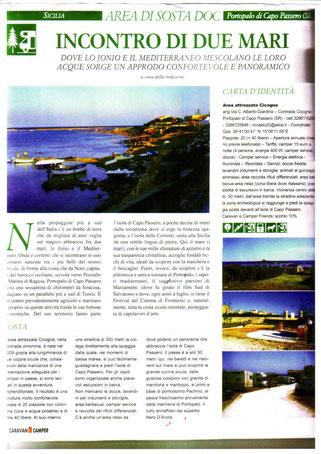 ARTICOLO SU CARAVANCAMPER DI APRILE 2010