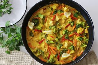 Currygemüse mit Geflügel Oligarto Olivenöl