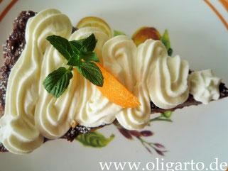 Aprikosenkuchen mit Schokofüllung Oligarto Backen mit Olivenöl