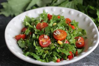 Salat mit Steilmus und Olivenöl Oligarto