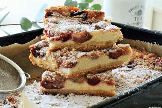 Zwetschgenkuchen mit Quark und Olivenöl