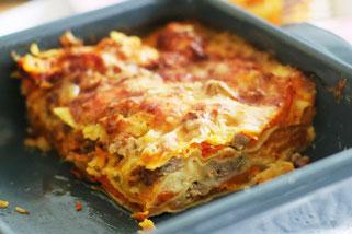 Lasagne mit Salsiccia und Kürbis mit Olivenöl Oligarto