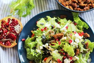 Wintersalat mit Granatapfel bei Oligarto Rezepte