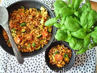 Vegane Dinkelpfanne mit Gemüse Oligarto Rezepte