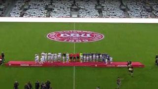 白に染まるスタジアム
