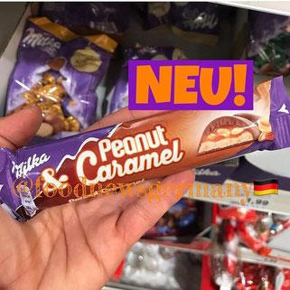 Milka Riegel Peanut Caramel