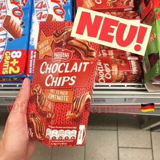 Chocolait Chips mit einer Zimtnote