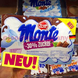 Zott Monte 30% weniger Zucker