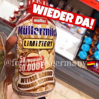 Müllermilch Weiße Schoko Macadamia Geschmack