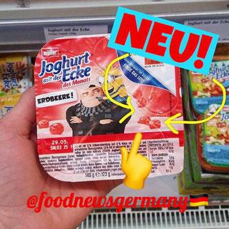 Joghurt mit der Ecke Minion Erdbeere