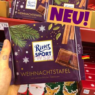 Ritter Sport Weihnachtstafel