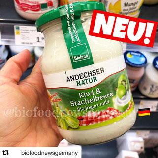 Andechser Natur Joghurt Kiwi & Stachelbeere
