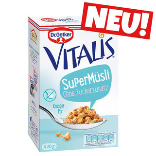 Dr. Oetker Vitalis Supermüsli ohne Zuckerzusatz